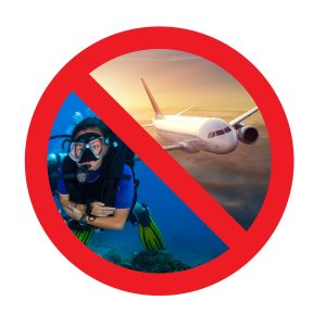 no fly when dive