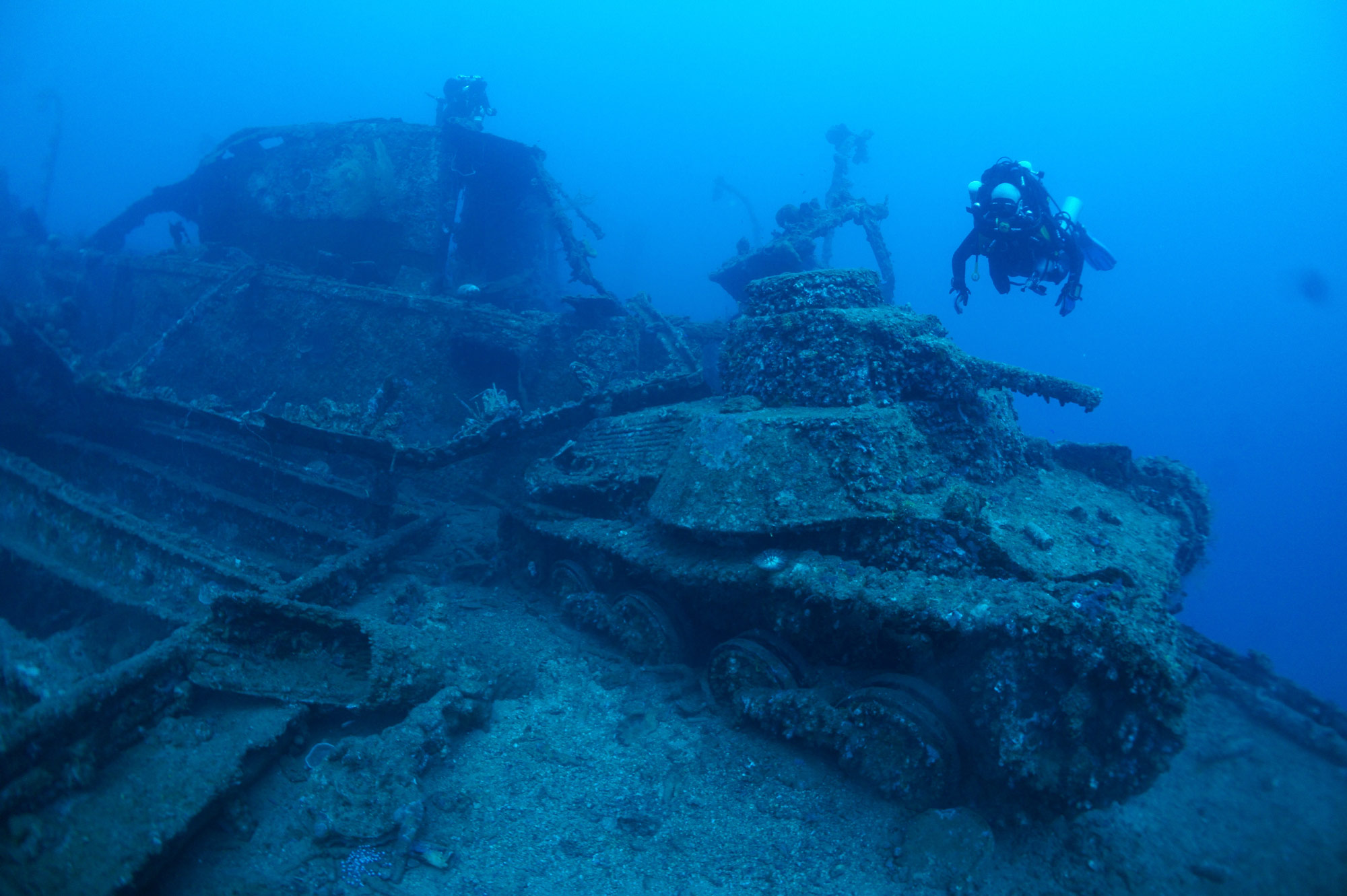 japanese tanks sunk
