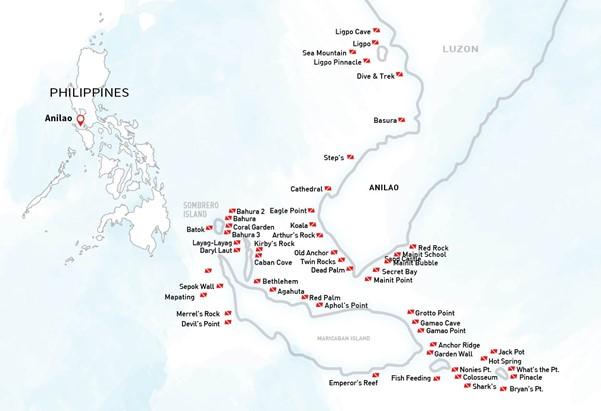 Map of Anilao