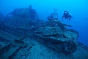 japanese tanks sunk