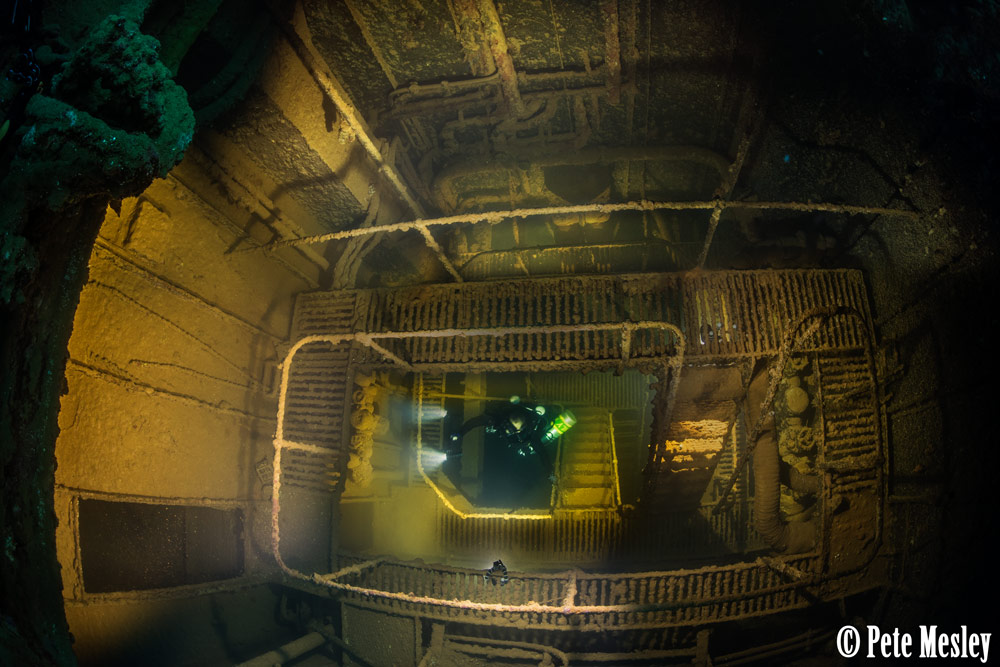 engine room shipwreck