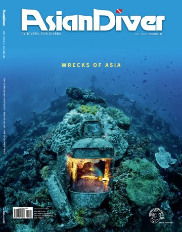 asian diver underwater360