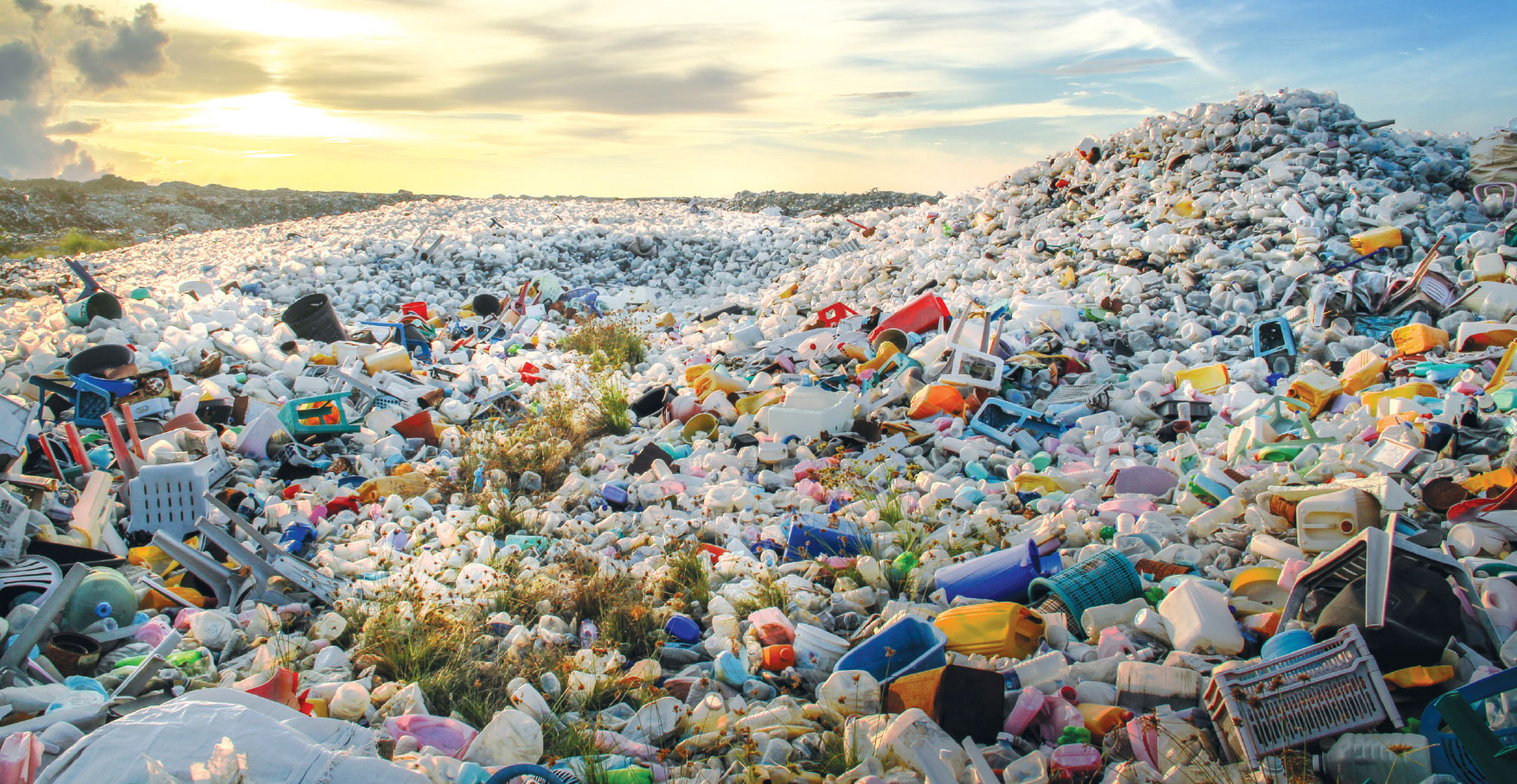 Image result for plastic bottle mountain india