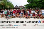 The competitors of the Philippine Depth National Championship - ready to take on the depths in Panglao!